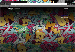 My current Google Crome theme by Marc Ecko