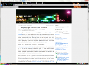 My current Mozilla Firefox theme Burning Fox